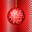 Stock Photo: Abstract red disco ball