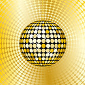Abstract gold disco ball — Stock Photo