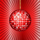 Abstract red disco ball — Stock Photo