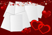 Bakgrund av valentine — Stockvektor