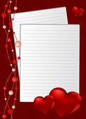 Background by the Valentine — Stock Vector