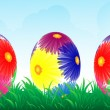 Royalty-Free Stock Vector Image: Colour easter vector banner