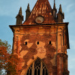 Old gothic tower - Stock Photo