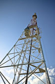 Television tower, bottom view — Stock Photo