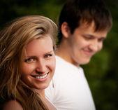 Beautiful couple smiling — Stock Photo
