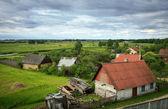 Pueblo bielorruso en verano — Foto de Stock