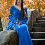 Elf princess on stone staircase — Stock Photo