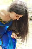 Princesa elfo encontró anillo — Foto de Stock