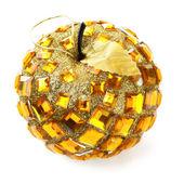 Christmas ball in apple shape — Stock Photo