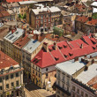 Lviv at summer, view from city hall — Stock Photo