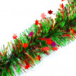 Christmas tinsel garland — Stock Photo