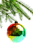 Decoration ball on fir branch — Stock fotografie