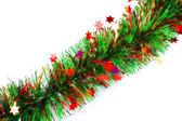 Christmas tinsel garland — Stock Photo