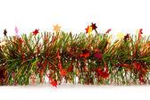 рождественская мишура гирлянда с звездами — Стоковое фото
