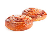 Two sweet buns with cinnamon — Stock Photo