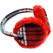 Red earmuff — Stock Photo