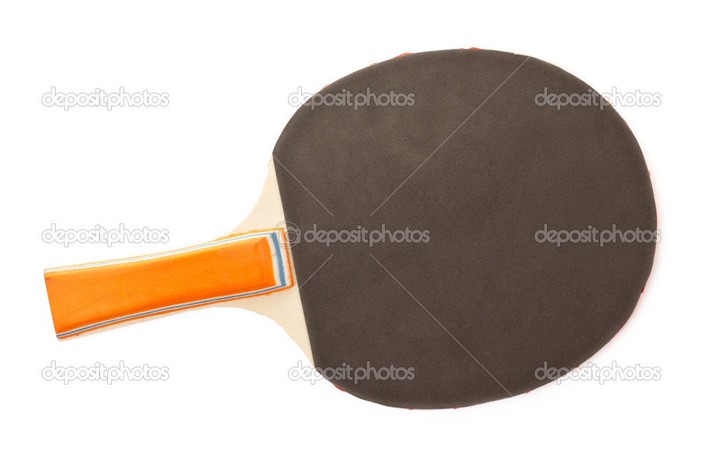 Table tennis racket isolated on white background — Stock Photo #4687414