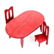 Toy wooden furniture — Stock Photo