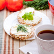 Diet breakfast — Stock Photo