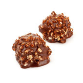 Chocolate candy with nuts — Stock Photo