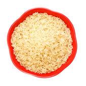 Bowl Of Raw Rice — Stock Photo