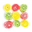 Spiral Gelatin Sweets - Stock Photo