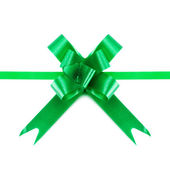 Green Bow And Ribbons — Stock Photo
