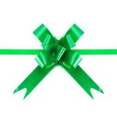 Grön rosett och band — Stockfoto
