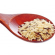 Stock Photo: Rice blend in wooden spoon