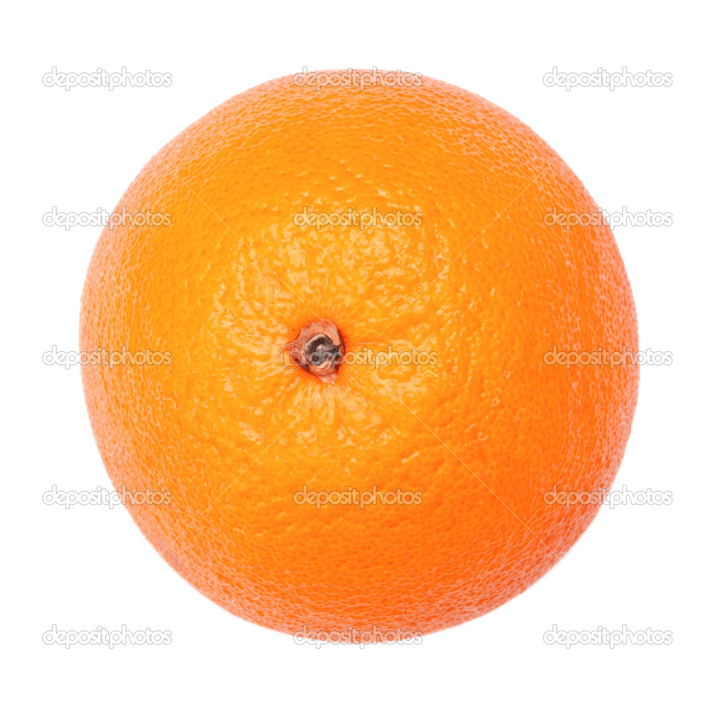 Single orange isolated on a white background — Stock Photo #5047795