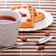 Royalty-Free Stock Photo: Dessert with soft waffle