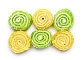Doces de gelatina espiral — Foto Stock