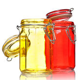 Glass Jars for Spice — Stock Photo
