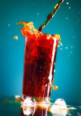 Pouring Cola — Stock Photo