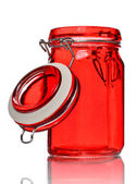 Glass Jar for Spice — Stock Photo