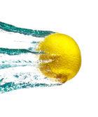 Lemon In Water Splash — Stock Photo