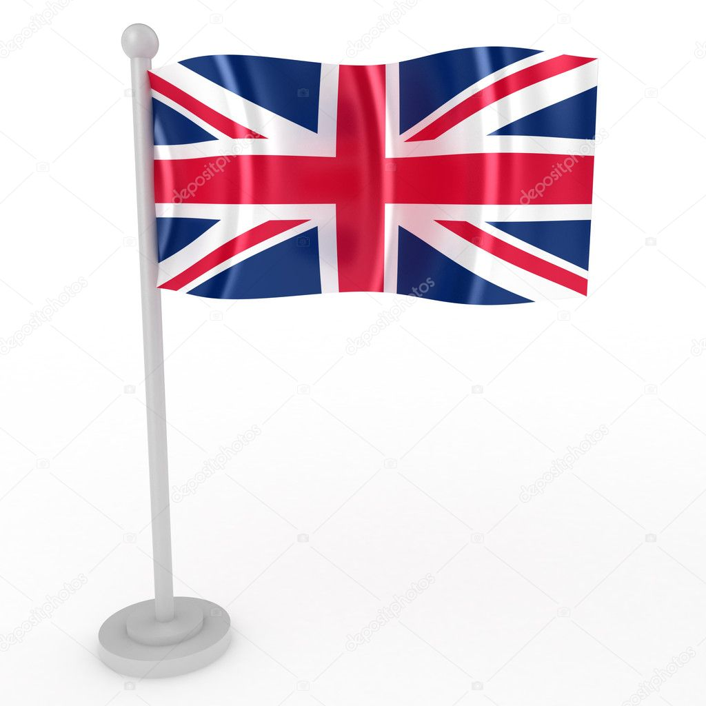 Illustration of a flag of Britain on a white background — Stock Photo #4528807