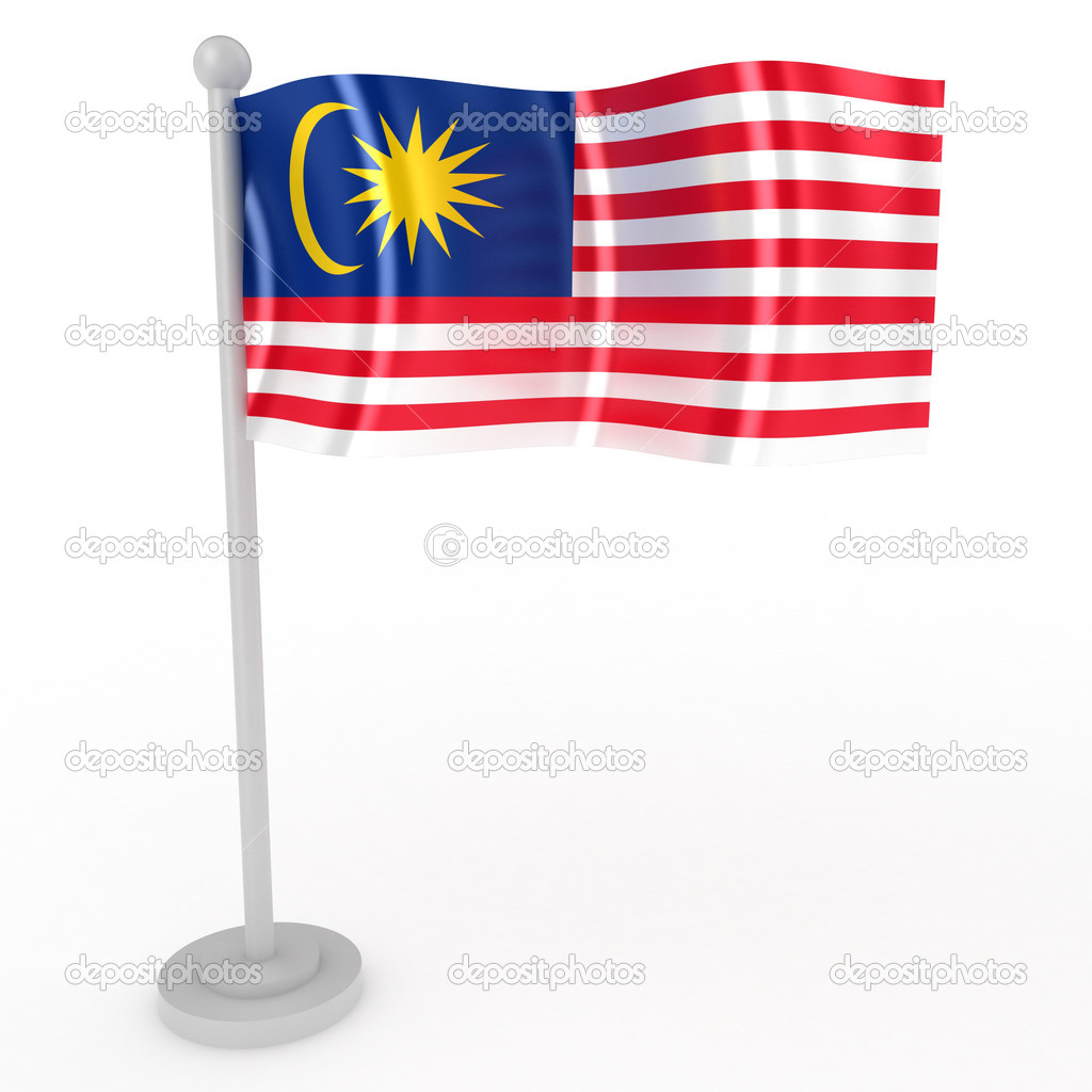 Illustration of a flag of Malaysia on a white background — Stock Photo #4905449