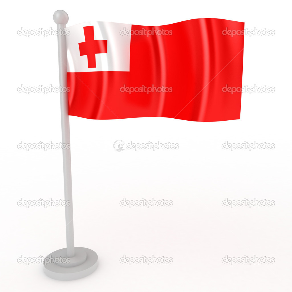 Illustration of a flag of Tonga on a white background — Stock Photo #4905450