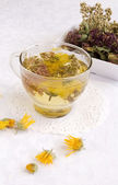Herbal medical tea — Stock Photo