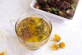 Hot medical herbal tea — ストック写真