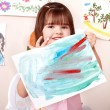 Foto de Stock  : Child paint picture in preschool.