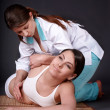 Foto Stock: Girl having thai massage.