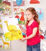 Foto de pintura infantil. — Foto de Stock