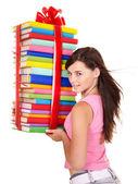 Pila de explotación chica de libro. — Foto de Stock
