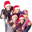 Group young thumb up. - Stock Photo