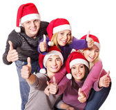 Group young thumb up. — Stock Photo