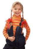 Child in orange shirt. — Stock Photo