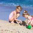 Children playing on beach. — Stock Photo #5187579