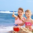 Children playing on beach. — Stock Photo #5187580